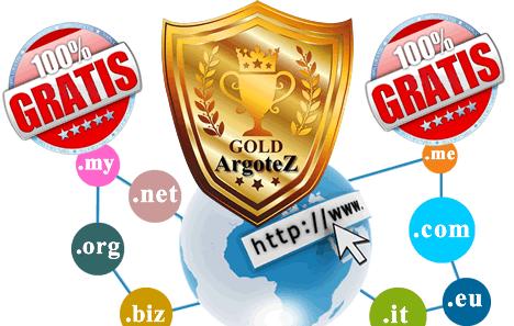 Sito Vetrina Gold Registrazione Dominio Gratuita Argotez