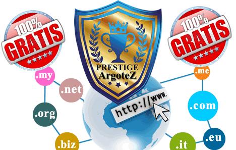 Sito Vetrina Prestige Registrazione Dominio Gratuita Argotez