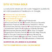 Descrizione Abbonamento Sito Vetrina Gold