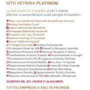 Descrizione Abbonamento Sito Vetrina Platinum