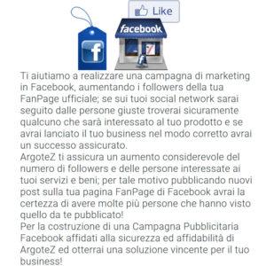 Descrizione Servizio Extra Campagna Pubblicitaria Facebook