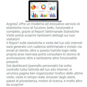 Descrizione Servizio Extra Report Settimanale Statistiche Visite